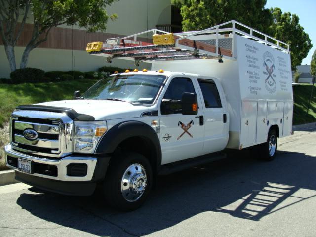 Truck Cab Inside >> Harbor Truck Bodies Blog: A Harbor Super Duty Plumbers Body for Orange County Plumbing