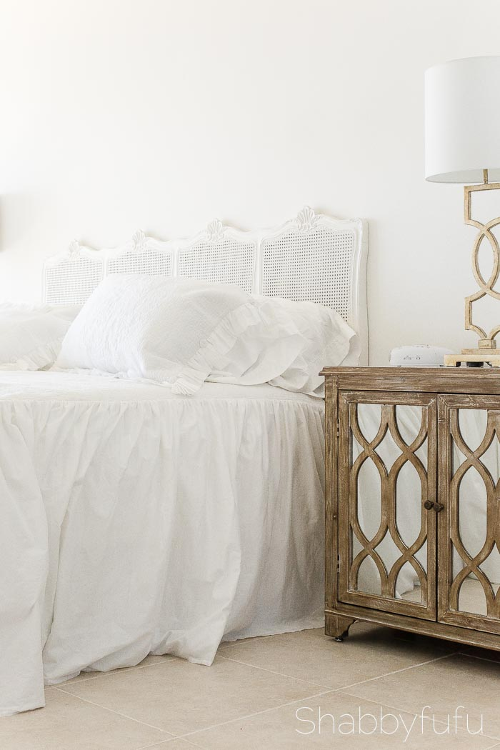 white-french-caned-headboard