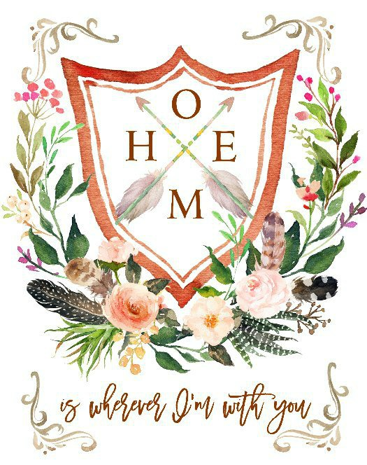 Home is wherever I'm with you printable