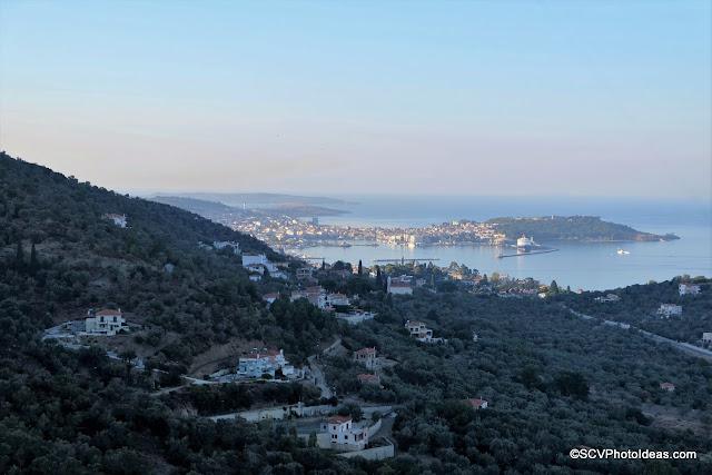 Top view of the port of Mytilene