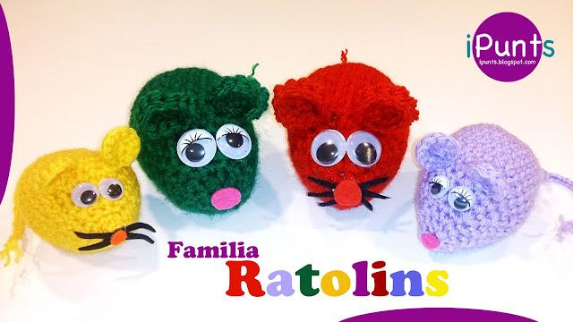 ipunts patron gratis raton ratones mouse amigurumi ganchillo crochet