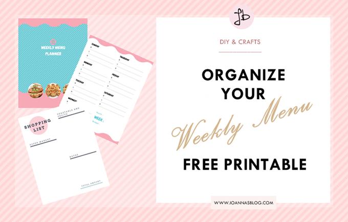 Οργανώστε το μενού της εβδομάδας δωρεάν εκτυπώσιμο