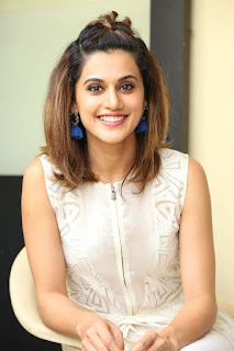 Taapsee Pannu White Dress At The Anando Brahma Movie Launch 2017