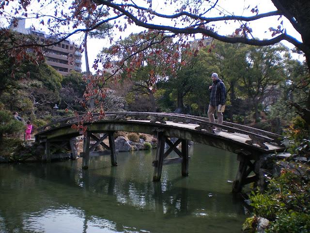 En un jardín de Kioto