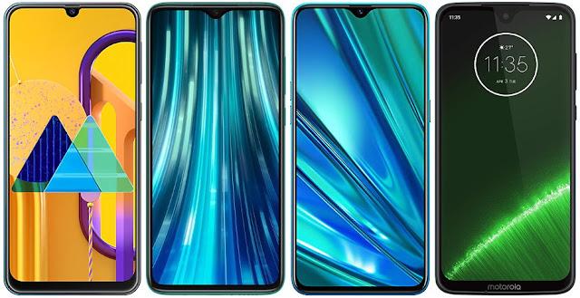 Samsung Galaxy M30s vs Xiaomi Redmi Note 8 Pro vs Realme 5 Pro vs Motorola Moto G7 Plus