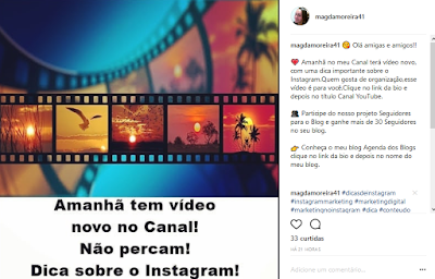 Legenda do Instagram personalizada
