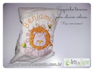 Aprenda a fazer este saquinho térmico de arroz para bebê