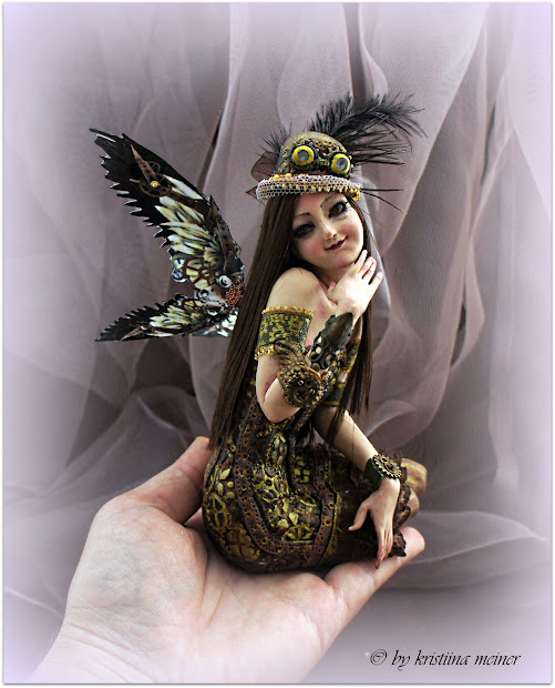 Ooak Doll Art Fairy Steampunk Hand Fantasy Author