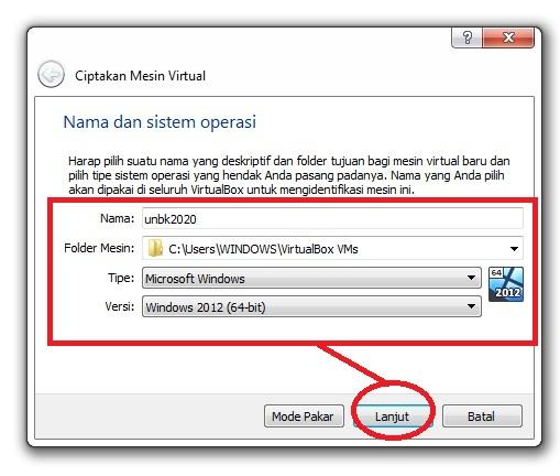 gambar seting vhd unbk di virtualbox