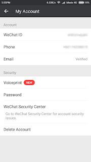Cara untuk delete account WeChat secara Permanently