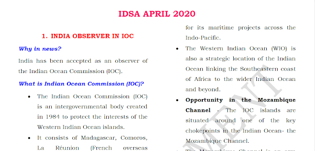 Gist of IDSA April 2020
