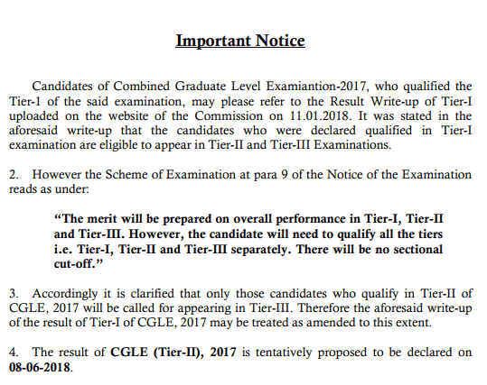 SSC CGL 2017 Tier-3 Exam Date Announced [PDF] - Exam Tyaari