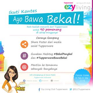 """Info Kontes - Kontes Tupperware  """"Ayo Bawa Bekal"""" Berhadiah Menarik untuk 90 Pemenang Tiap Minggu"""