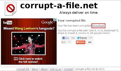 Cara Membuat File Menjadi Corrupt