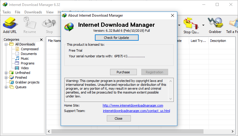 Internet Download Manager v6.32 build 6 Full version