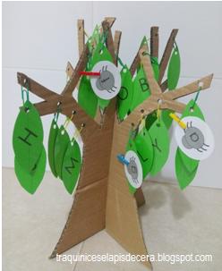 Aprender o alfabeto com a árvore das letras
