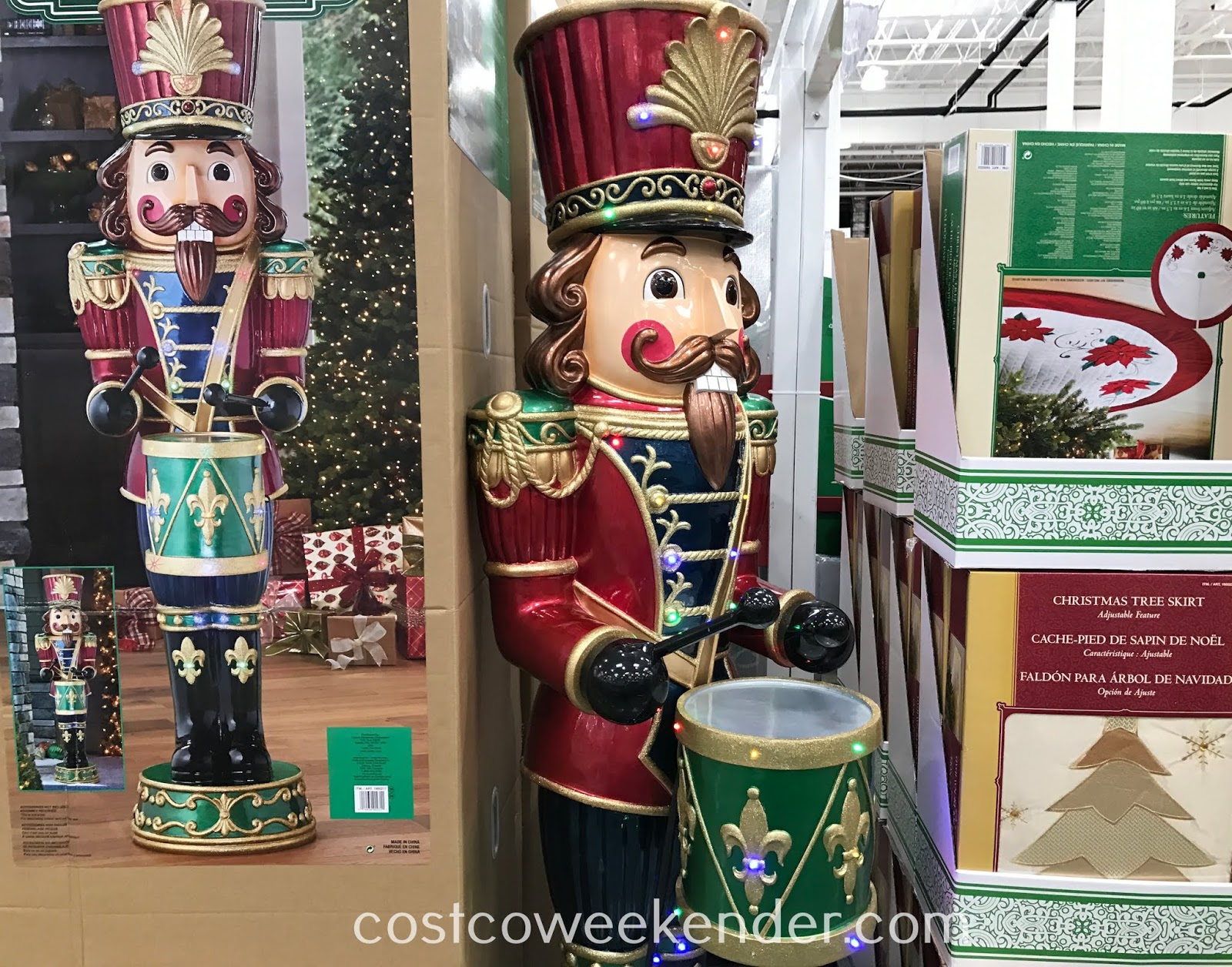 Decorate your home this Christmas with the 6ft Nutcracker with Music and LED Lights