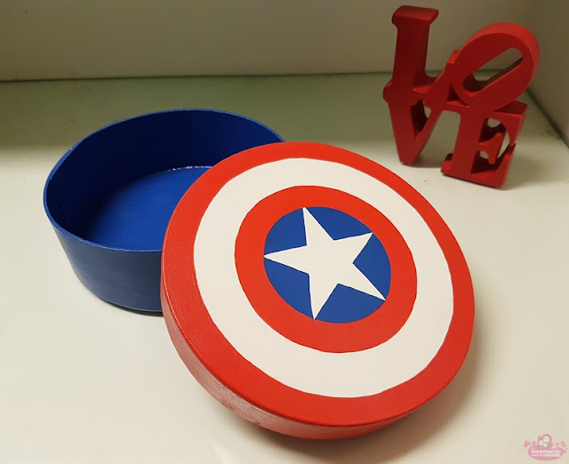 escudo do capitão américa pintado a mão