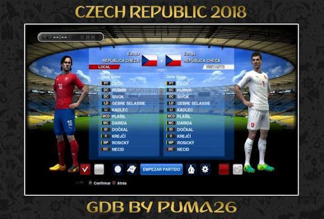 Czech Republic 2018 Kits PES 2013