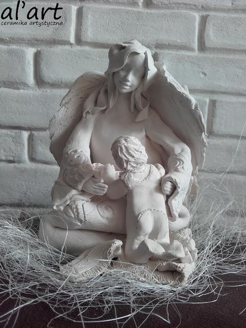 Anioł ceramiczny na roczek