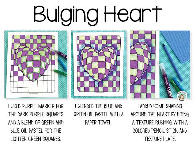 Op Art Heart Techniques Expressive