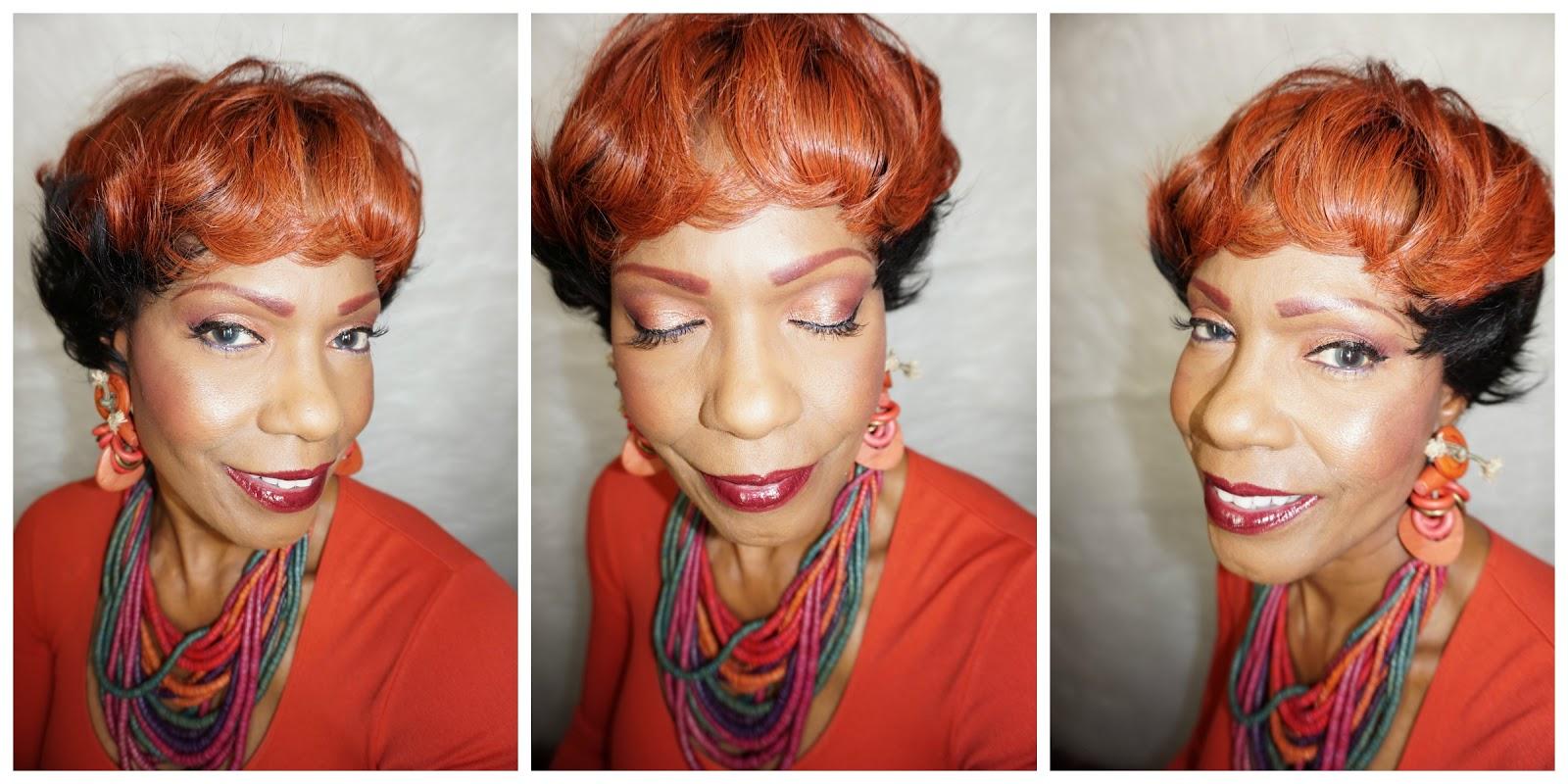 My New Red Top Custom Pixi Wig