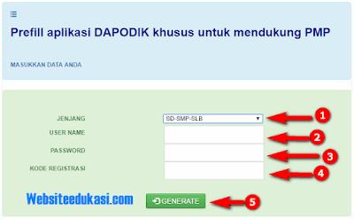 Prefill Dapodik untuk Install Aplikasi PMP 2018