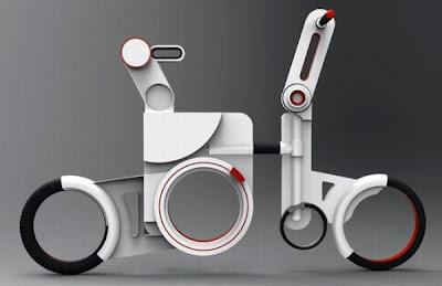 Prototipo de bicicleta futurista