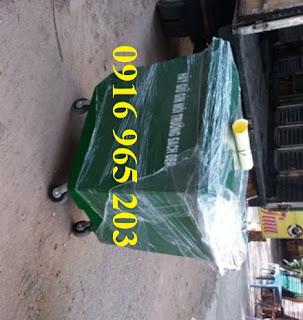 Xe đẩy rác 660l dùng trong bệnh viện