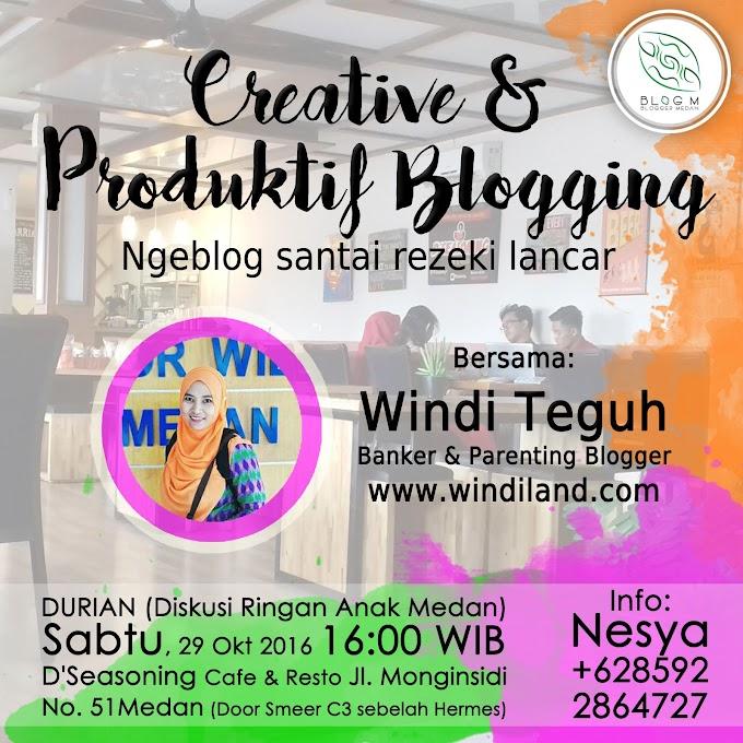 Cara Produktif Nge-Blog, Bahasan Blogger Medan di D'Seasoning Cafe