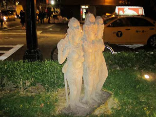 Three Sisters Statue at TAO New York.