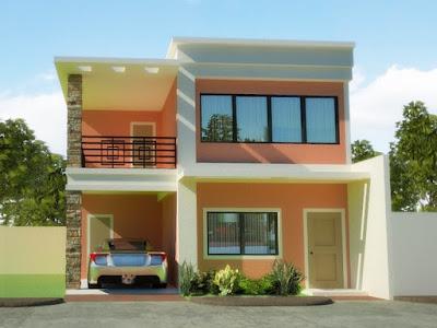 Contoh Rumah Minimalis Tampak Depan Dua Lantai