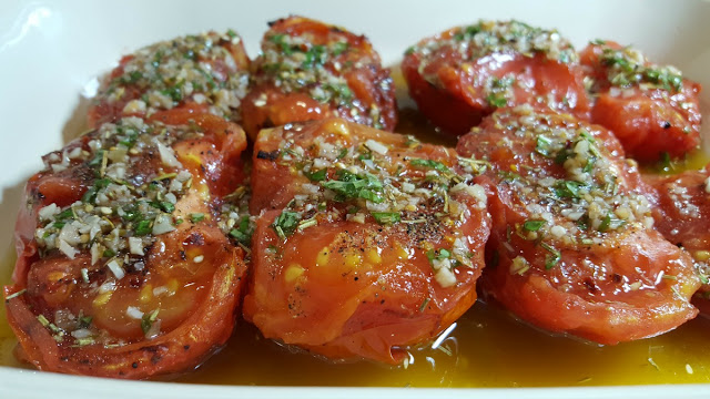 Grilled Marinated Tomatoes