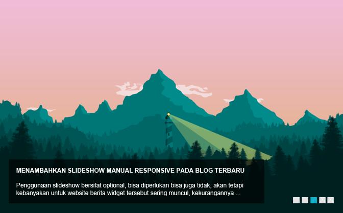 Menambahkan Slideshow Manual Responsive pada Blog Terbaru