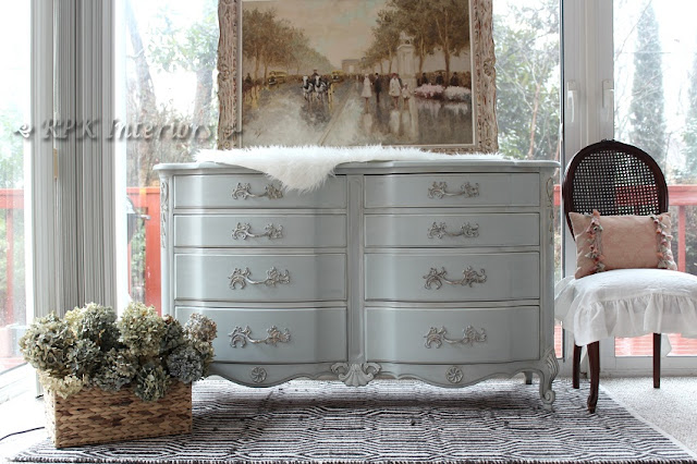 French Dresser in Annie Sloan chalk paint by RPK Interiors via www.thepainteddrawer Link party