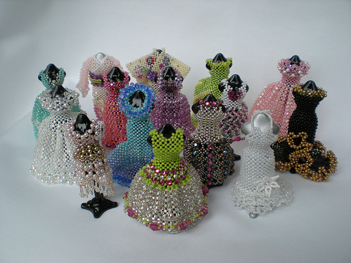 Miniature Beaded Dresses And Bags By Sian Nolan The