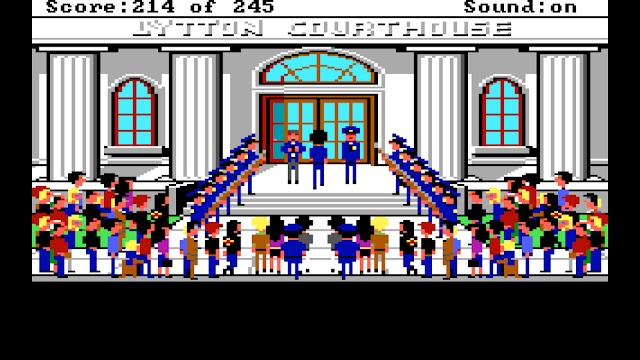 Screenshot from Police Quest 1 EGA version