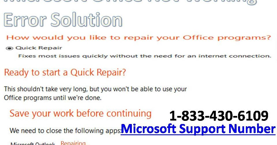 Fixed} Microsoft Office Not Working Error Solution