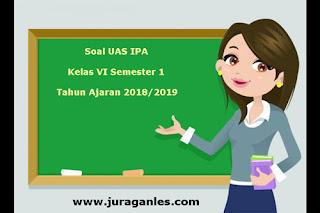 Contoh Soal UAS IPA Kelas 6 Semester 1 Terbaru Tahun Ajaran 2018/2019