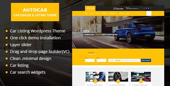 Auto Car v1.0 – Car Listing WordPress Theme