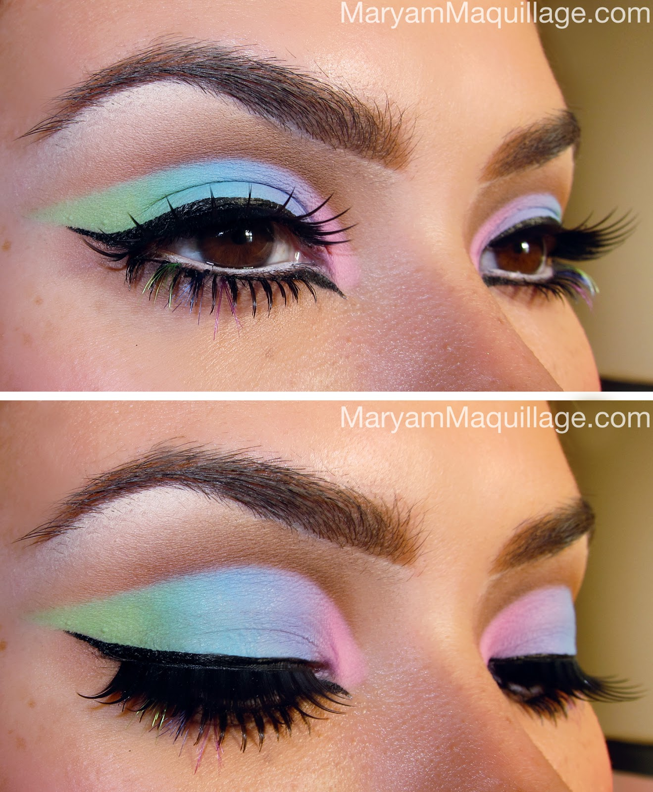 Maryam Maquillage: Cut-Crease Pastel Rainbows