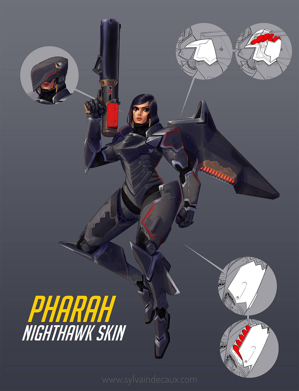 Nighthawk Pharah by urbanmelon