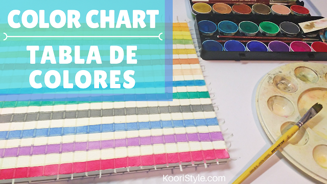 KooriStyle, Koori Style, Koori Atelier, KooriAtelier, Tutorial, Acuarela, Watercolor, Watercolour, Chart, Color, Color Chart, Tabla de colores, Glazing, Glaze, how to, como hacer, lección, lesson, class, clase