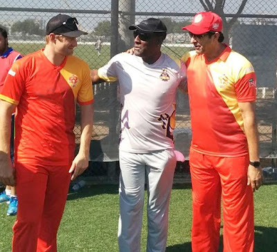 T20 Pakistan Super League 2016 Combined Old Cricket Stars At Dubai