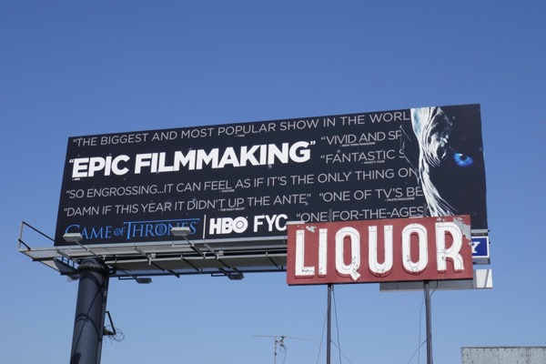 Game of Thrones 7 Epic Filmmaking Emmy FYC billboard