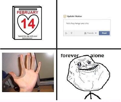 imagen chistosa forever alone 14 de febrero