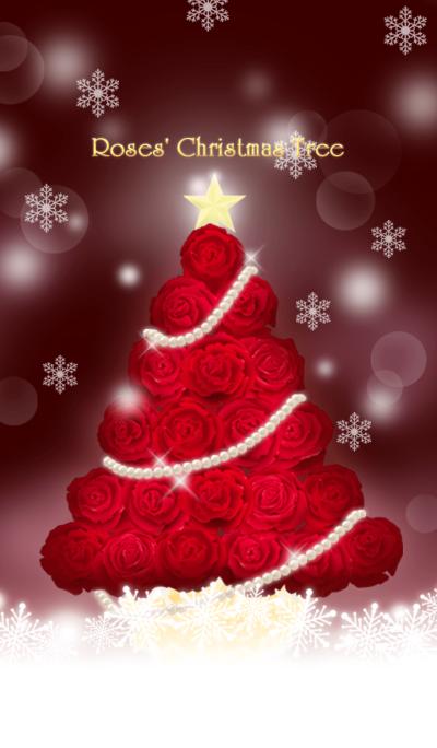 Roses Christmas tree (wine)