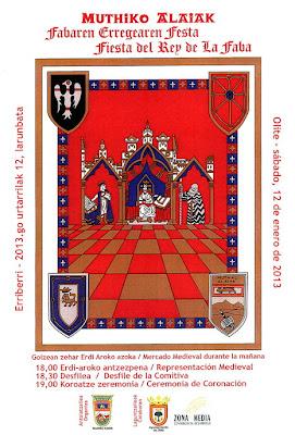 Cartel de la fiesta del Rey de la Faba de Olite