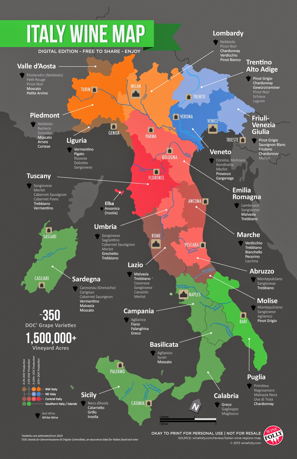 Map of Italy including Piedmont