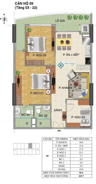 Căn hộ số 09 tòa Trường An- Tràng An Complex
